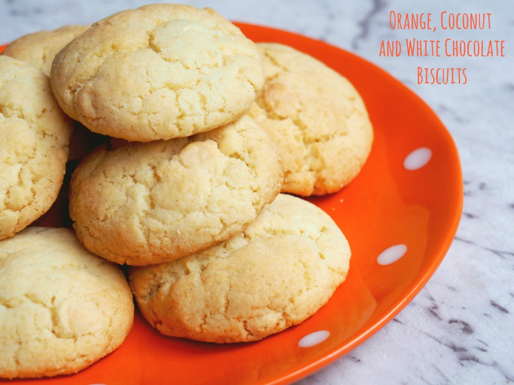 orange coconut white chocolate biscuits
