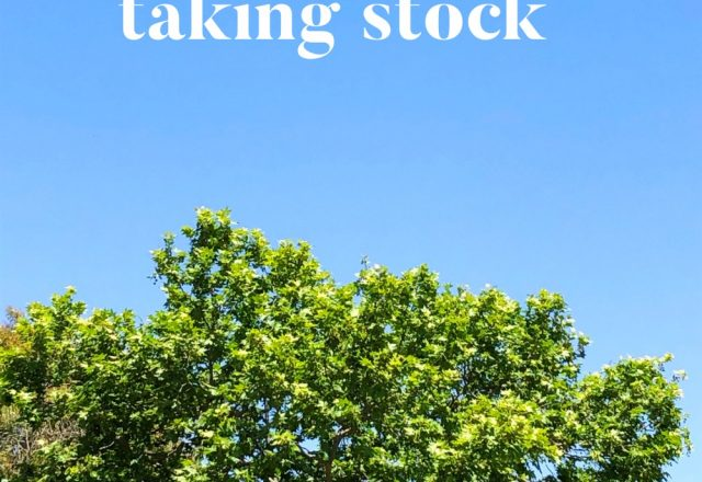 Taking Stock – October 2019