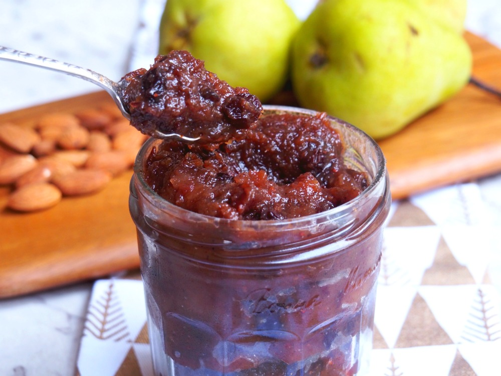 pear almond christmas mince spoonful