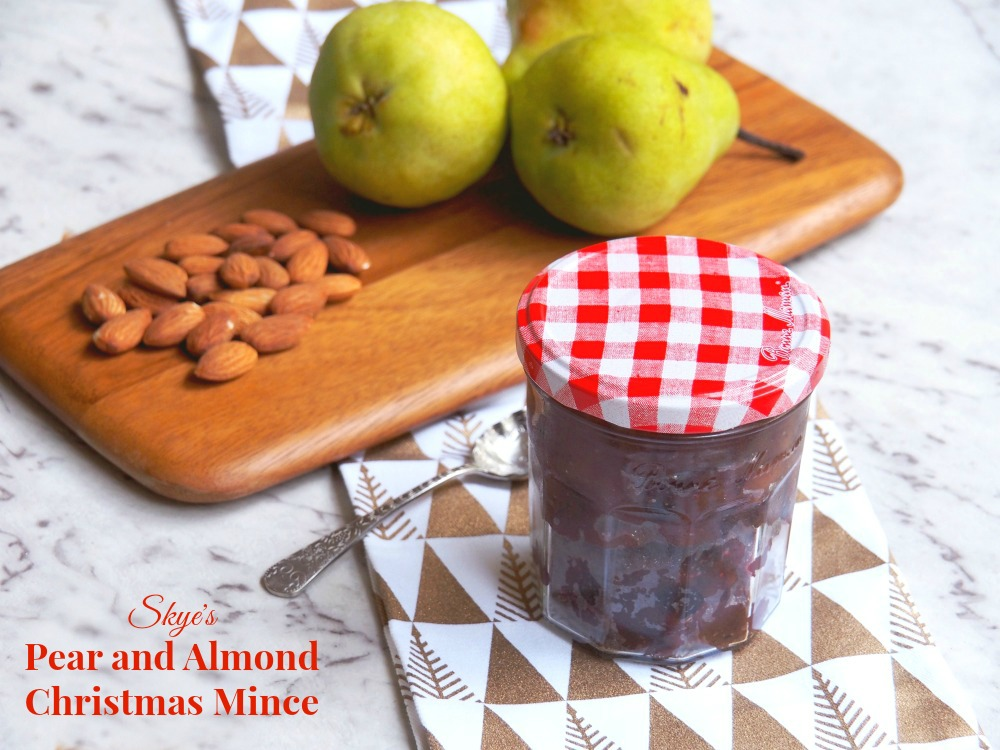 pear almond christmas mince