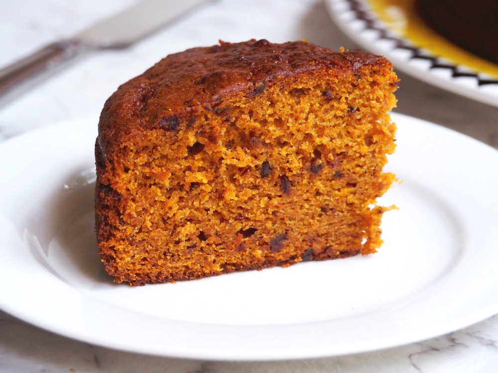 pumpkin and date cake slice