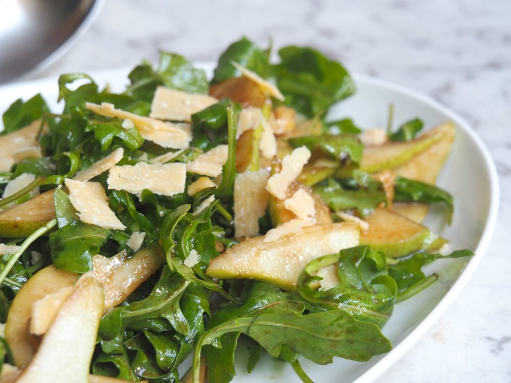rocket pear parmesan salad 4