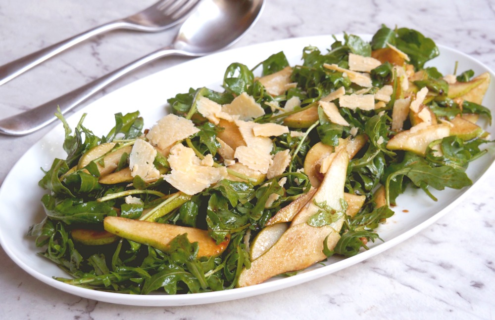 rocket pear parmesan salad 3