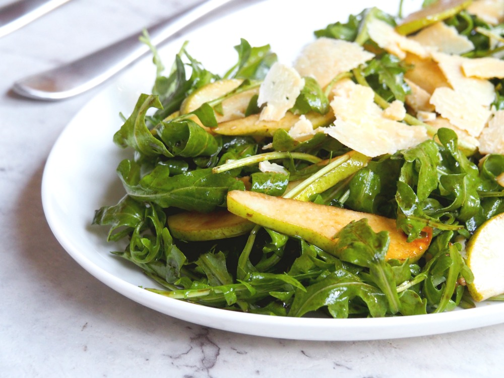 rocket pear parmesan salad 2