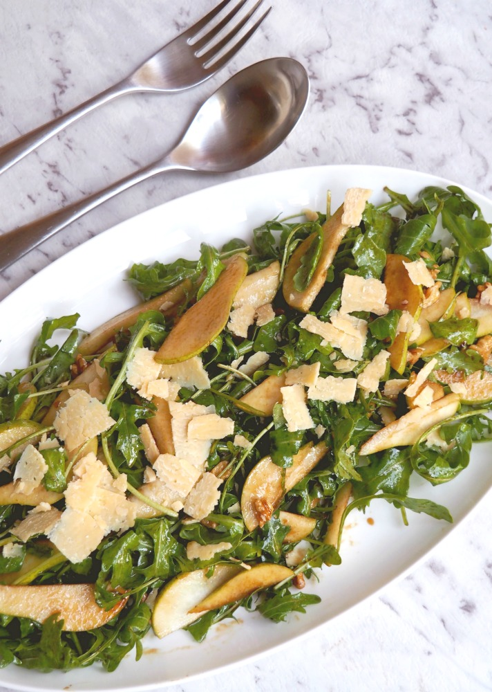 rocket pear parmesan sald platter