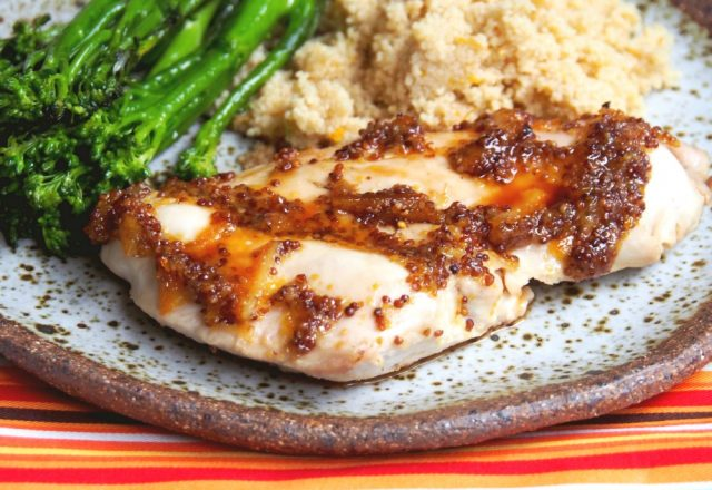 Oven Baked Marmalade Mustard Chicken with Cous Cous