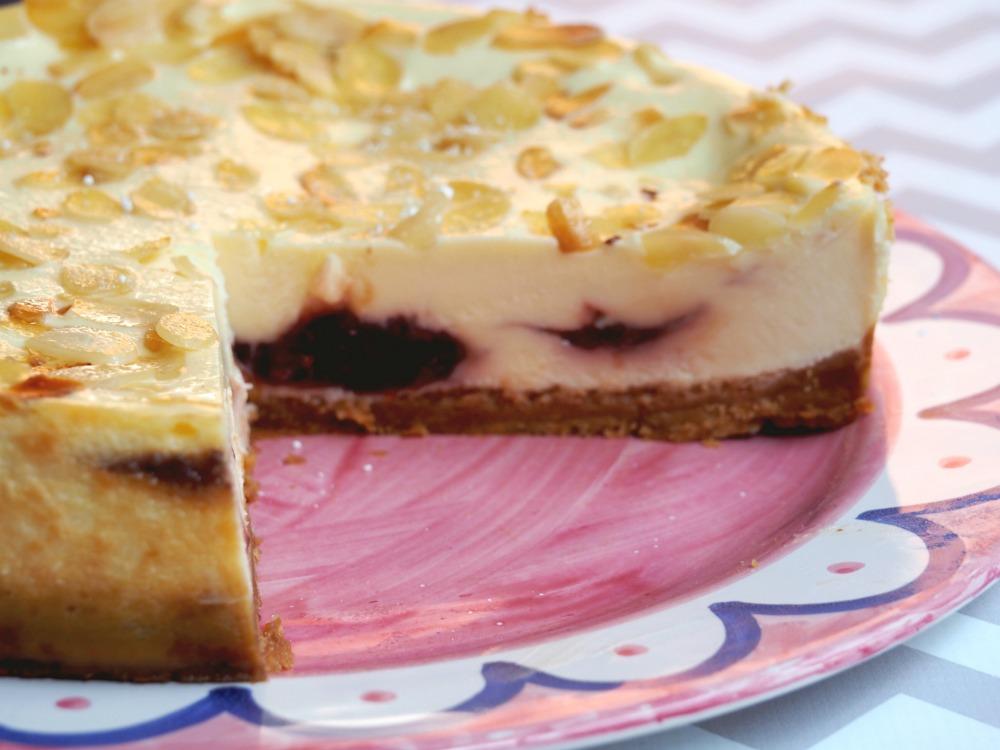 baked bakewell cheesecake 4