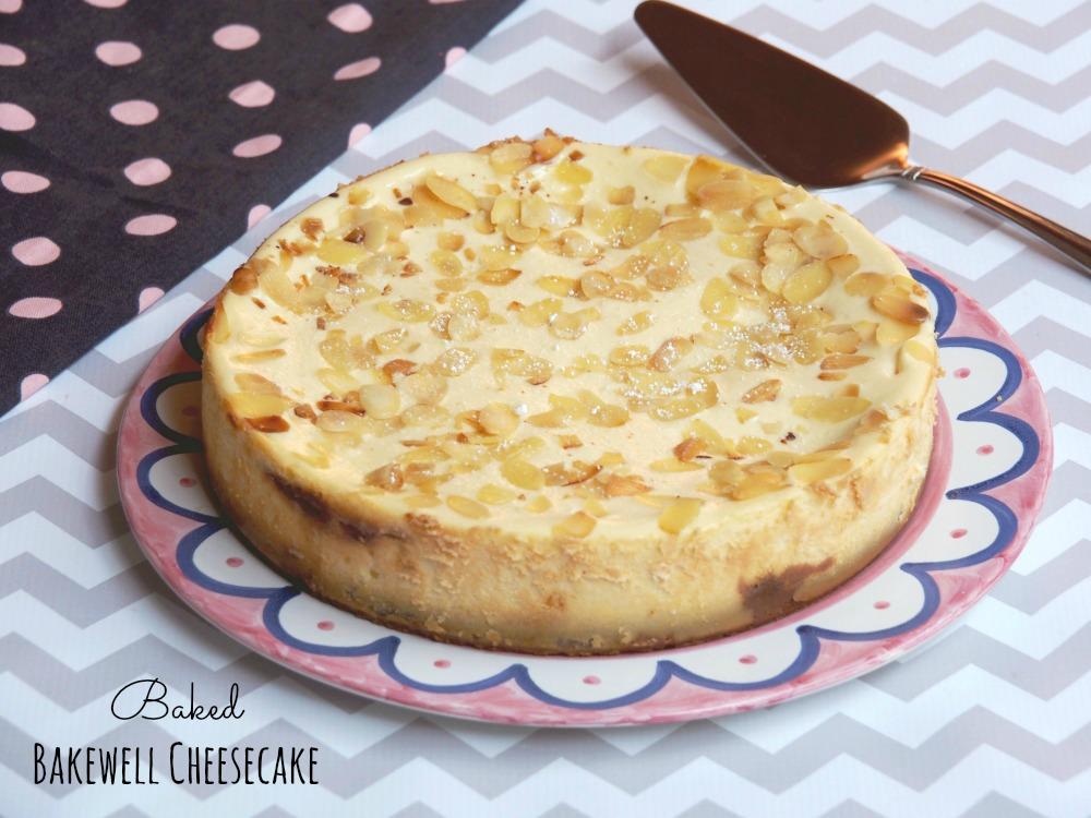 Baked Bakewell Cheesecake