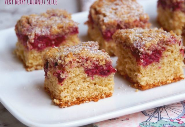 Very Berry Coconut Slice