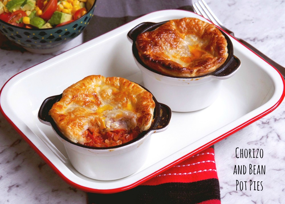 chorizo and bean pot pies title