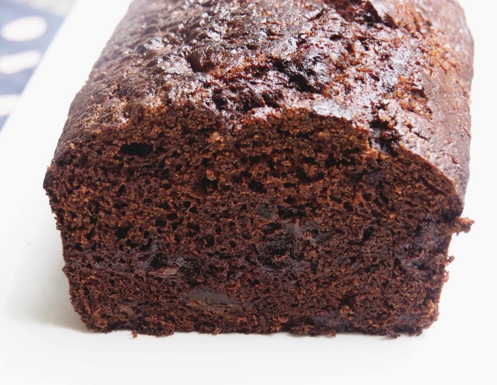 date chocolate loaf cut