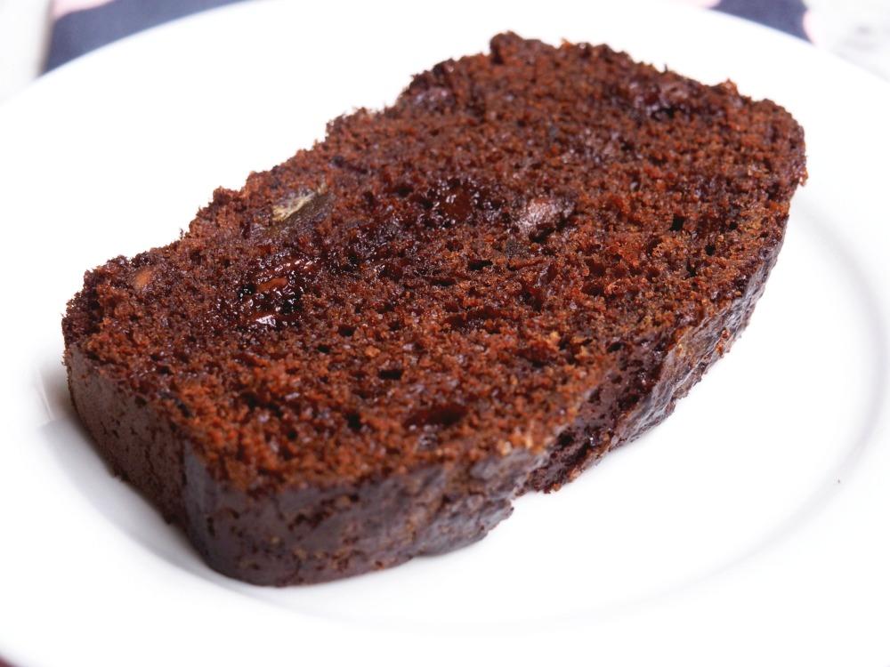 date chocolate loaf slice