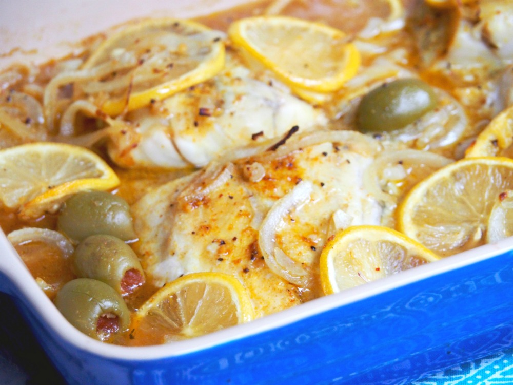 fast fish tagine baked