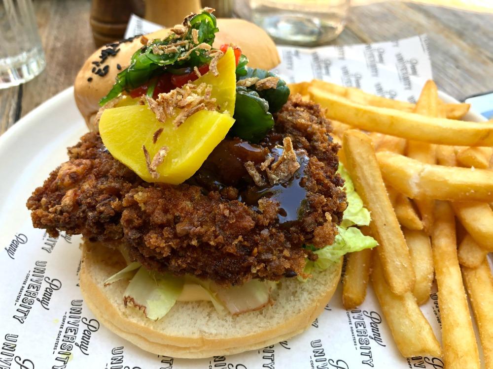 Penny University Cafe Katsu Burger