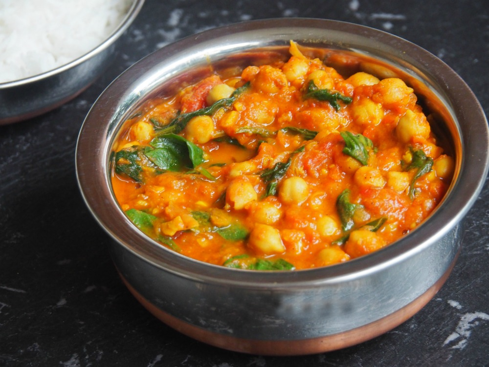spinach chickpea curry 5