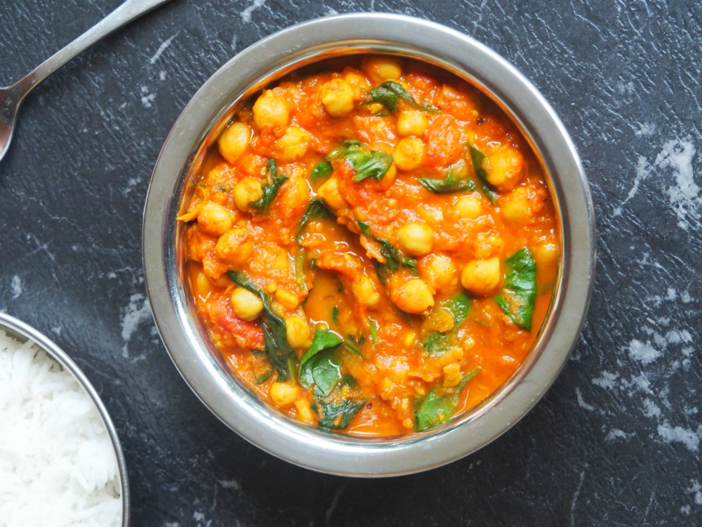 spinach chickpea curry 1