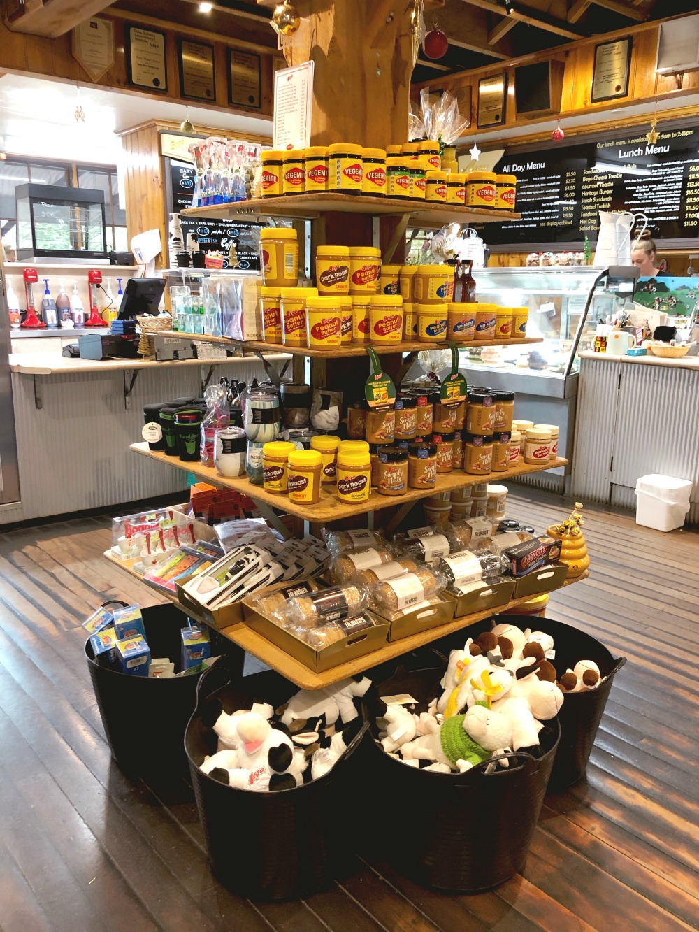 inside Bega Cheese heritage shop