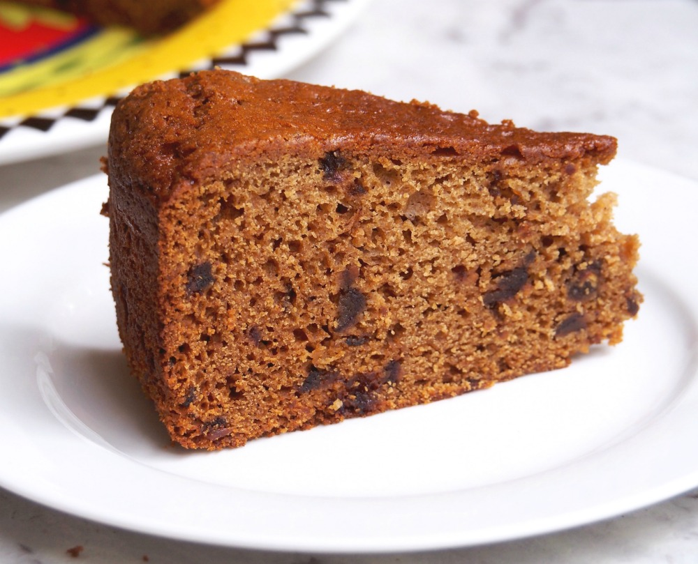 Slice of date and ginger cake