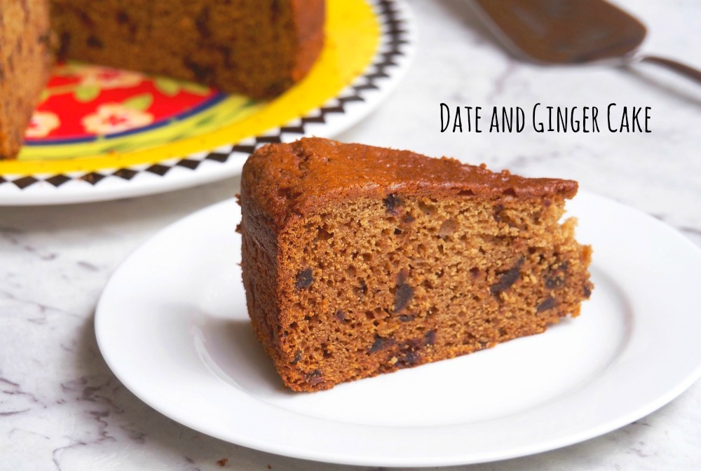 Date and Ginger Cake title