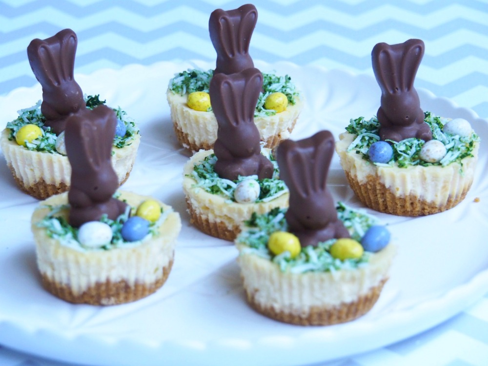 mini easter bunny malteser cheesecakes 2
