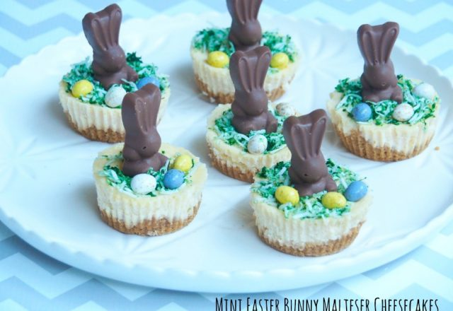 Mini Easter Bunny Malteser Cheesecakes