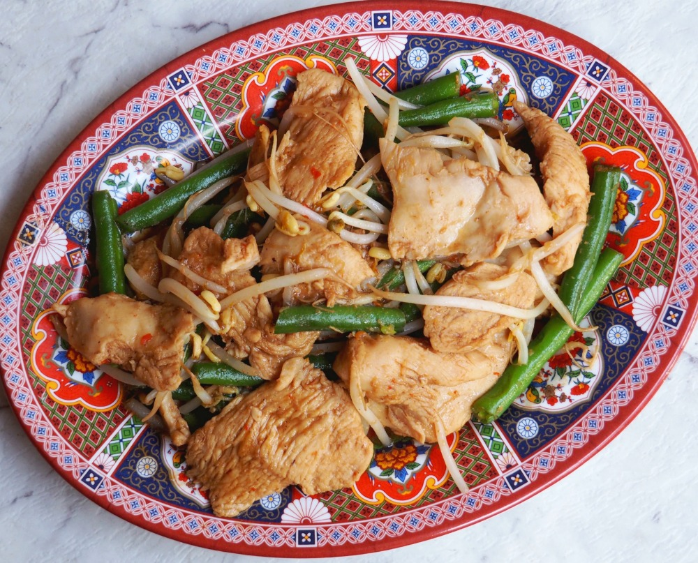 teriyaki chicken with green beans