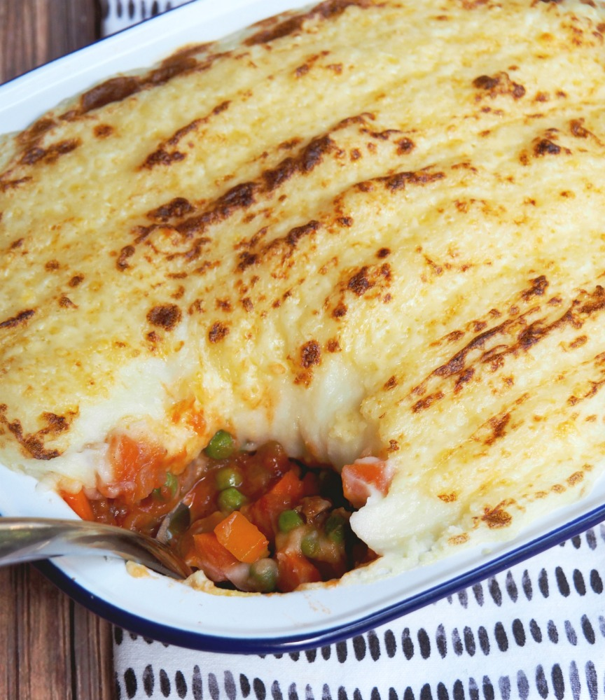vegetable shepherds pie spoon