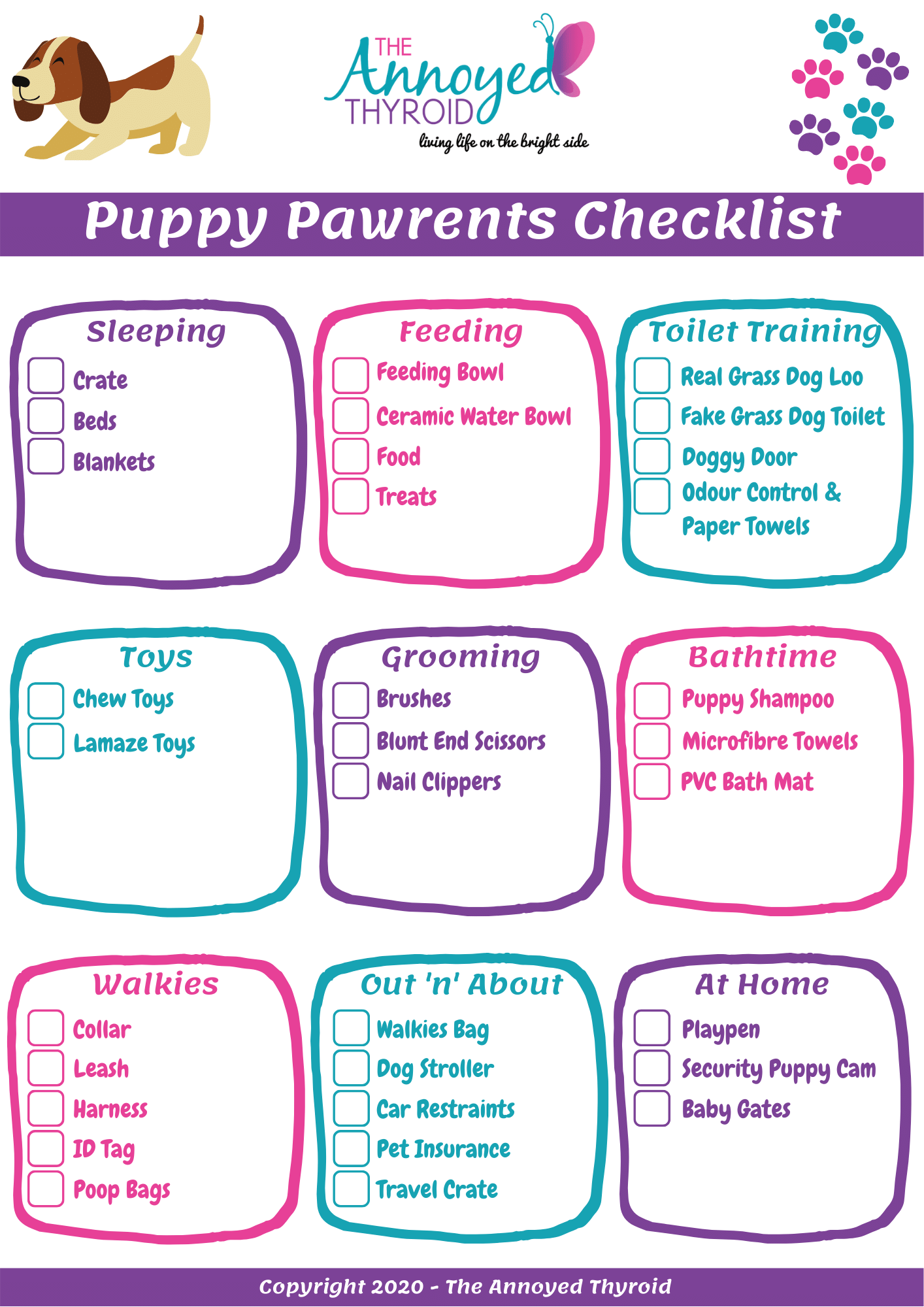 checklist of puppy basics