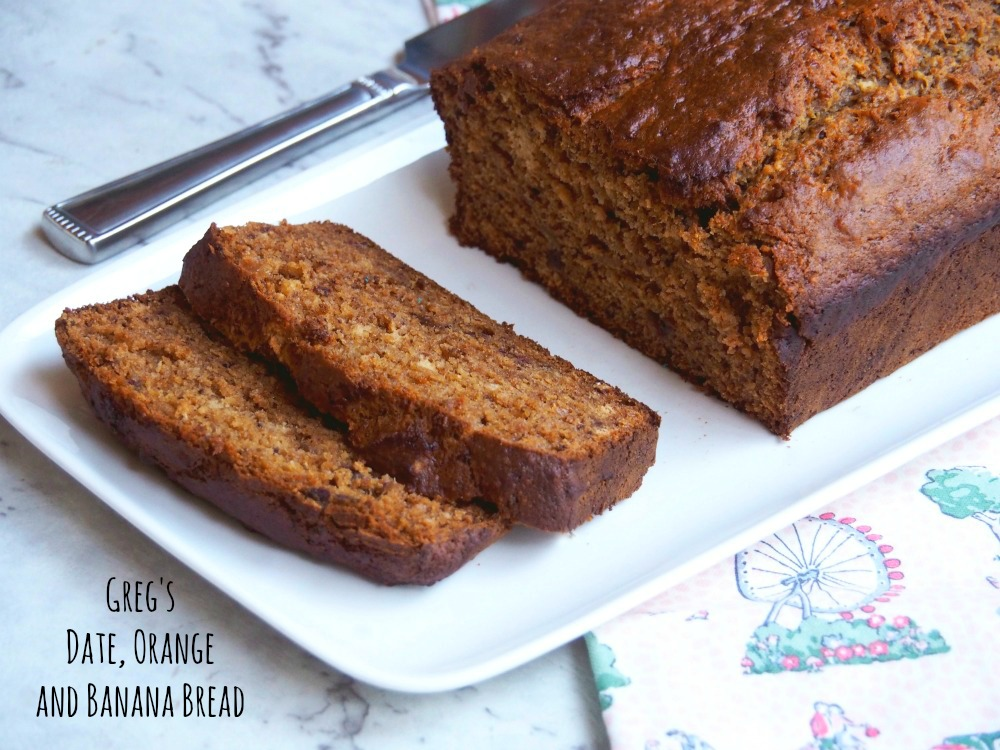 orange date banana bread cut and slices