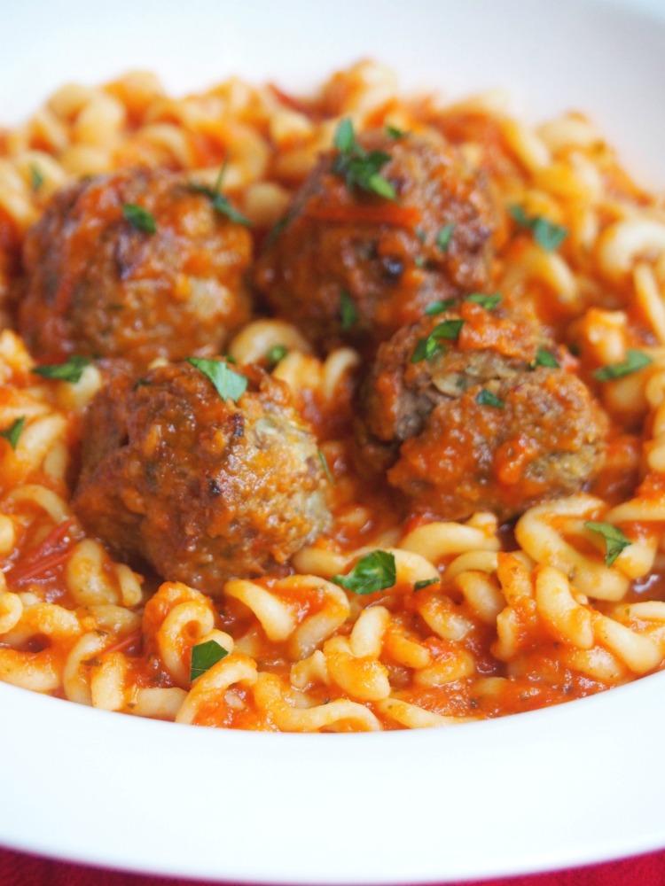 pasta and tuna balls