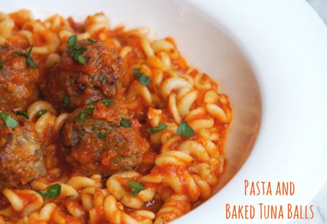 Pasta and Baked Tuna Balls