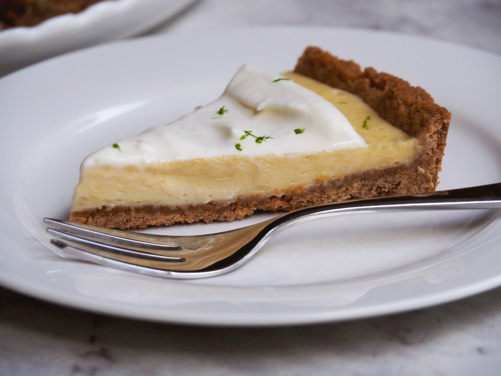 slice of easy key lime pie