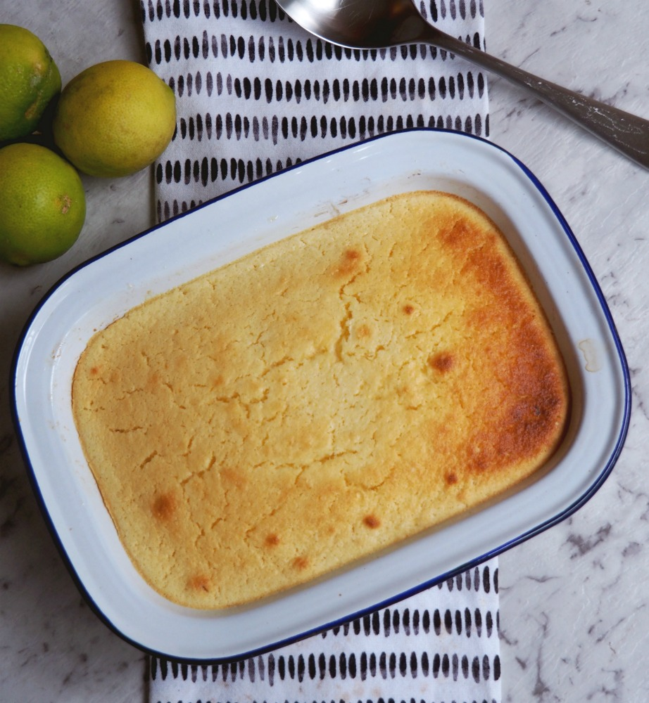 citrus delicious pudding with limes