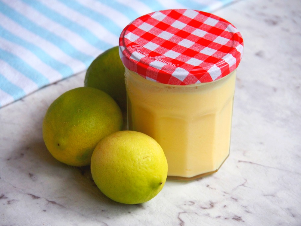 jar of lime butter with limes next to it