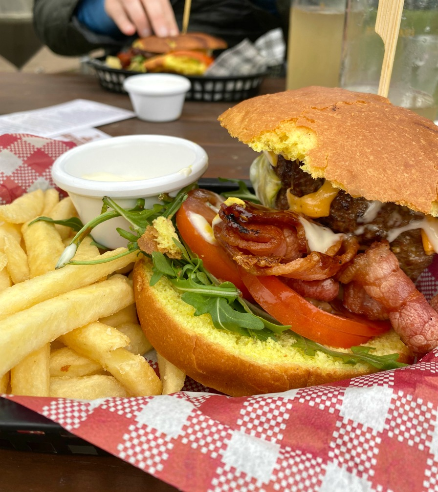 Matilda Bay Burger with bacon and cheese