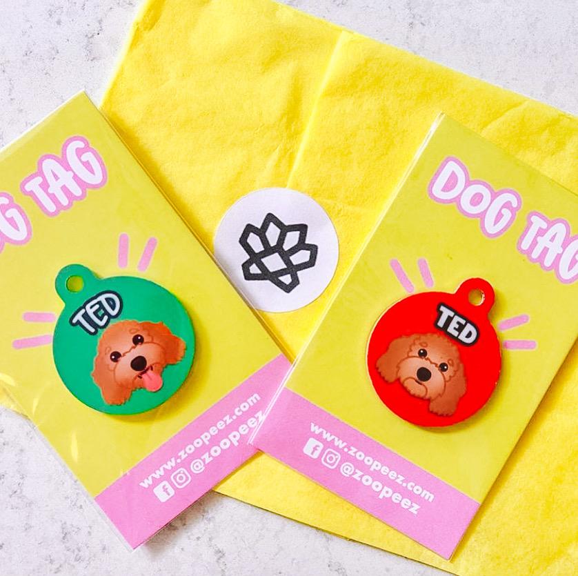 zoopeez personalised dog tags