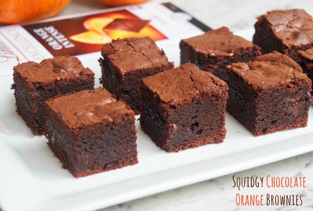 squidgy chocolate orange brownies