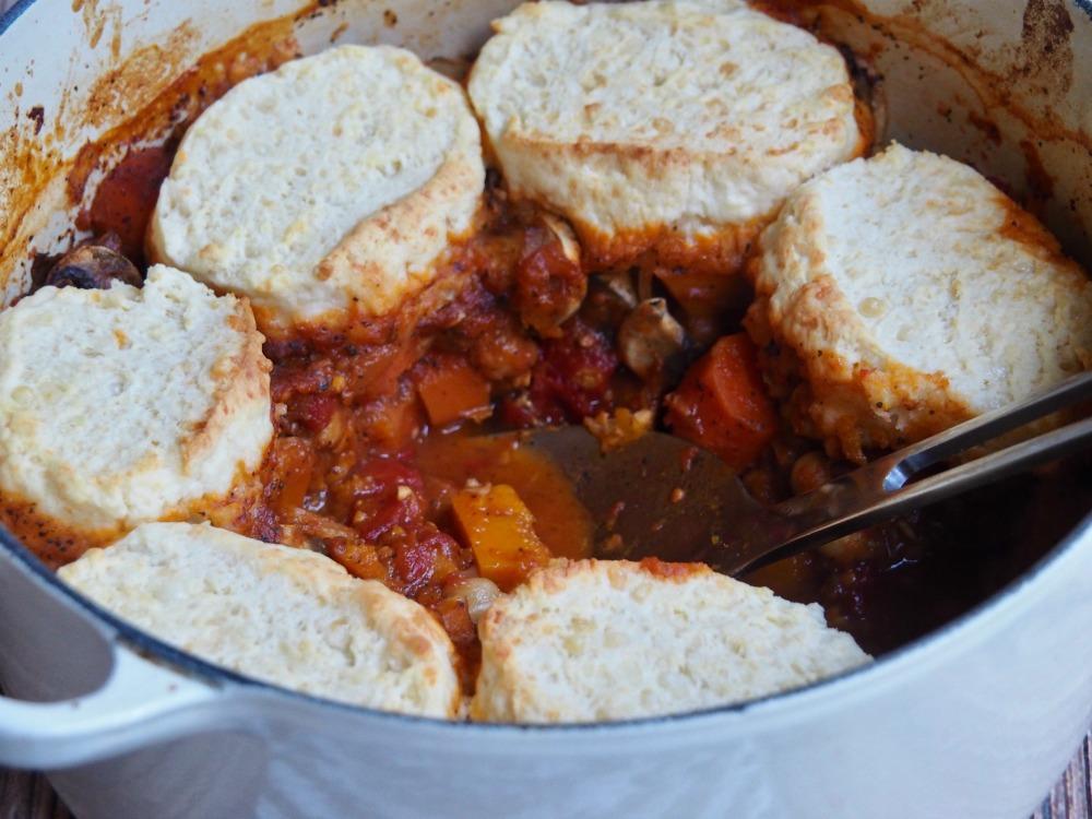 harissa vegetable stew in pot