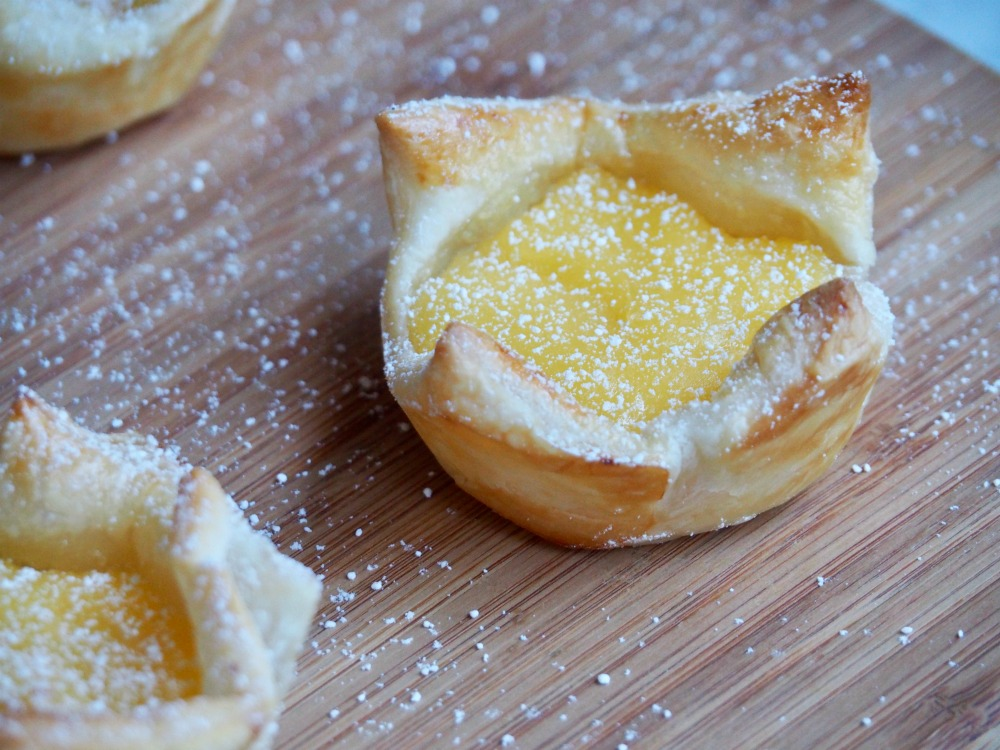 close up of lime butter puffs