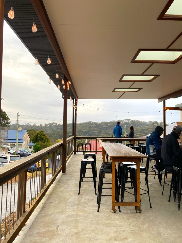 outside mountain culture brewery deck