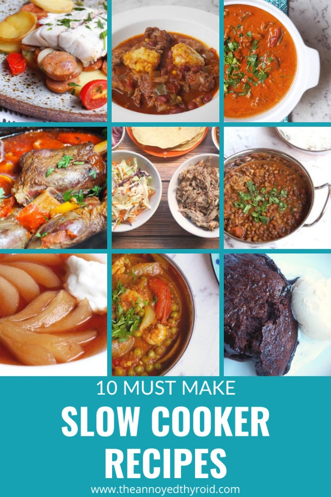 10 must make slow cooker recipes pin