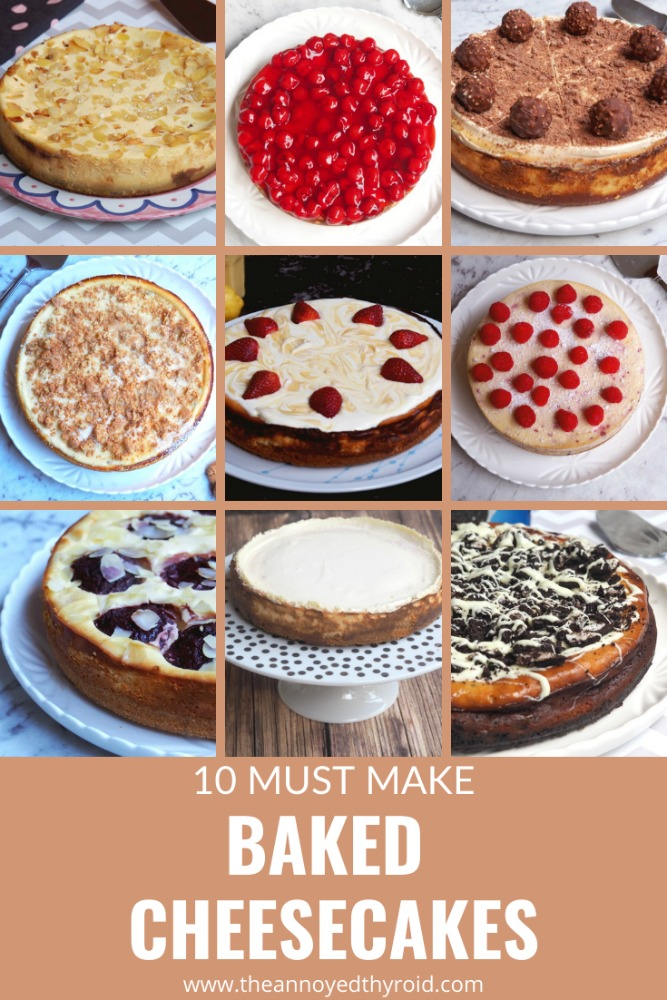 10 must make baked cheesecakes pin