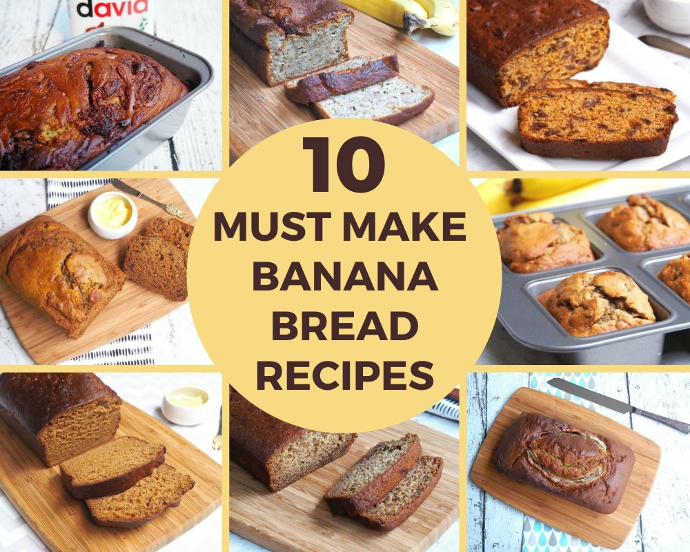 different banana bread round up title