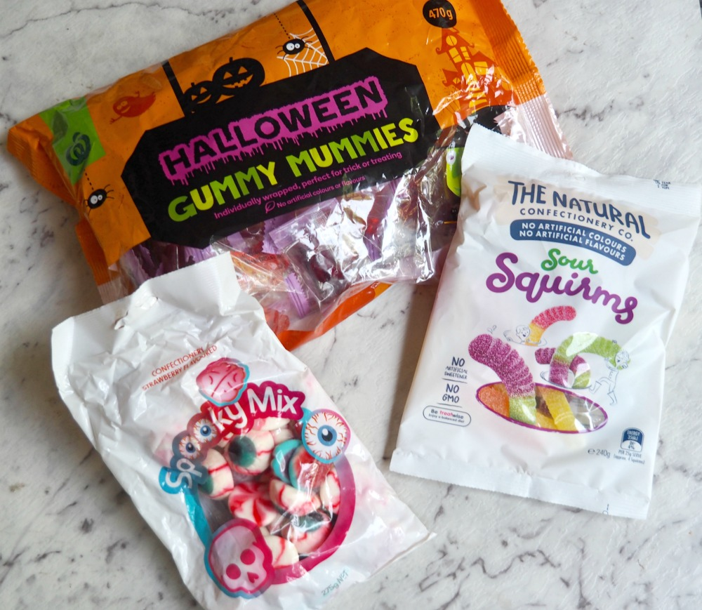 bags of halloween candy