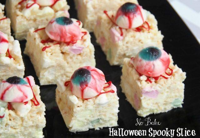 No Bake Halloween Spooky Slice