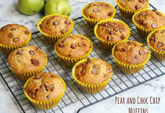 Pear and Choc Chip Muffins
