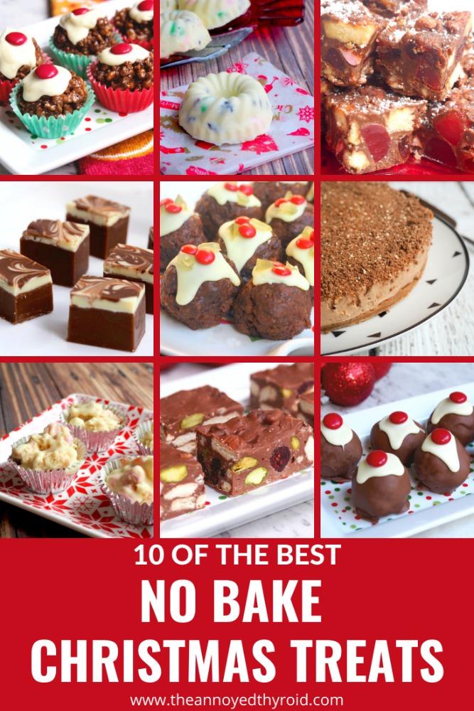 9 images of no bake christmas treata