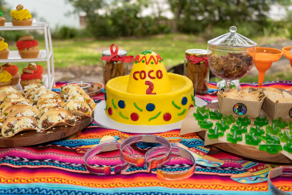 yellow sombrero dog birthday cake