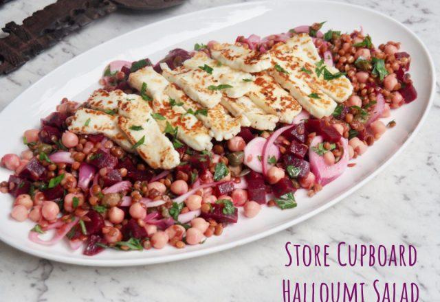 Store Cupboard Halloumi Salad