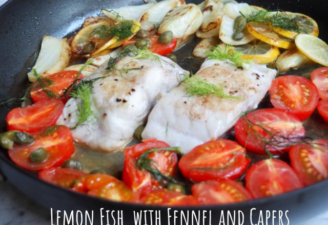 Lemon Fish with Fennel and Capers